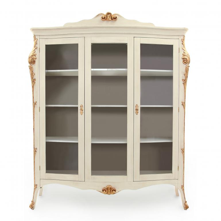 5307 classic style wood glass cupboard aura1