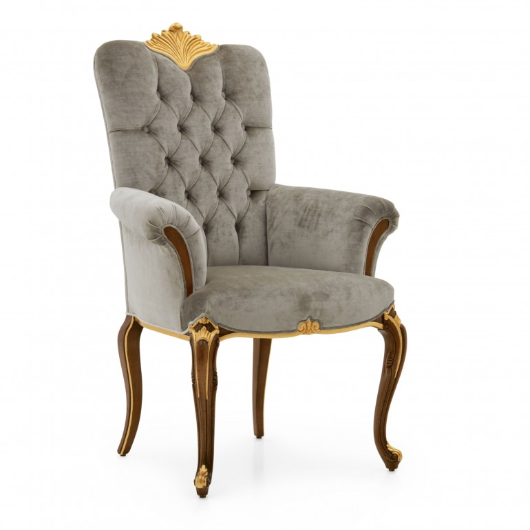 5390 baroque style wood armchair bronte3