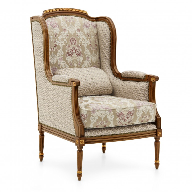 5399 classic style wood armchair lutezia