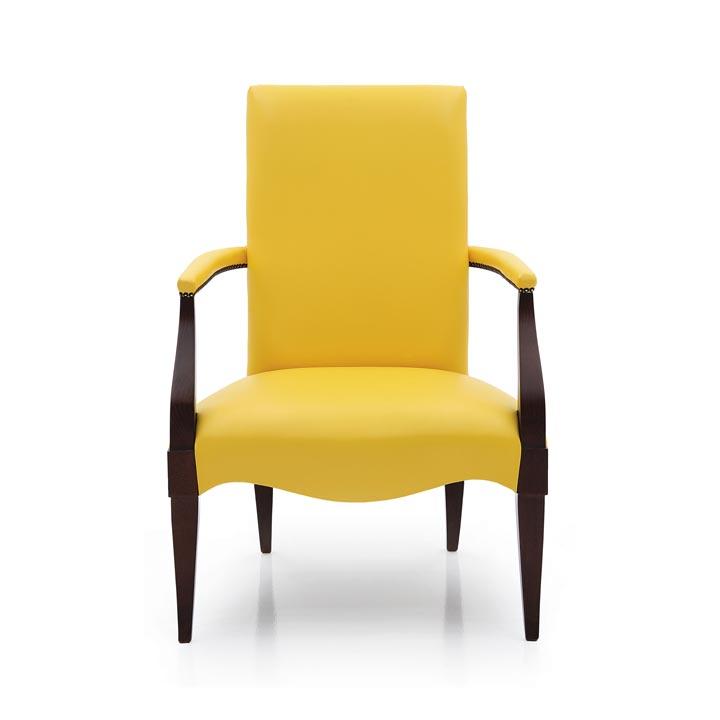 541 modern style wood armchair luna1