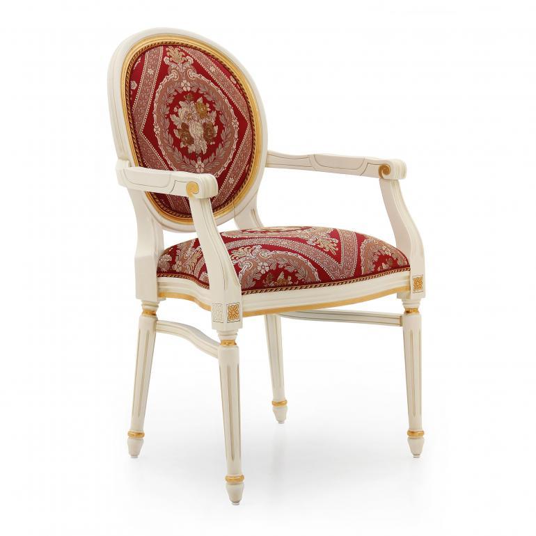 55 classic style wood armchair luigi