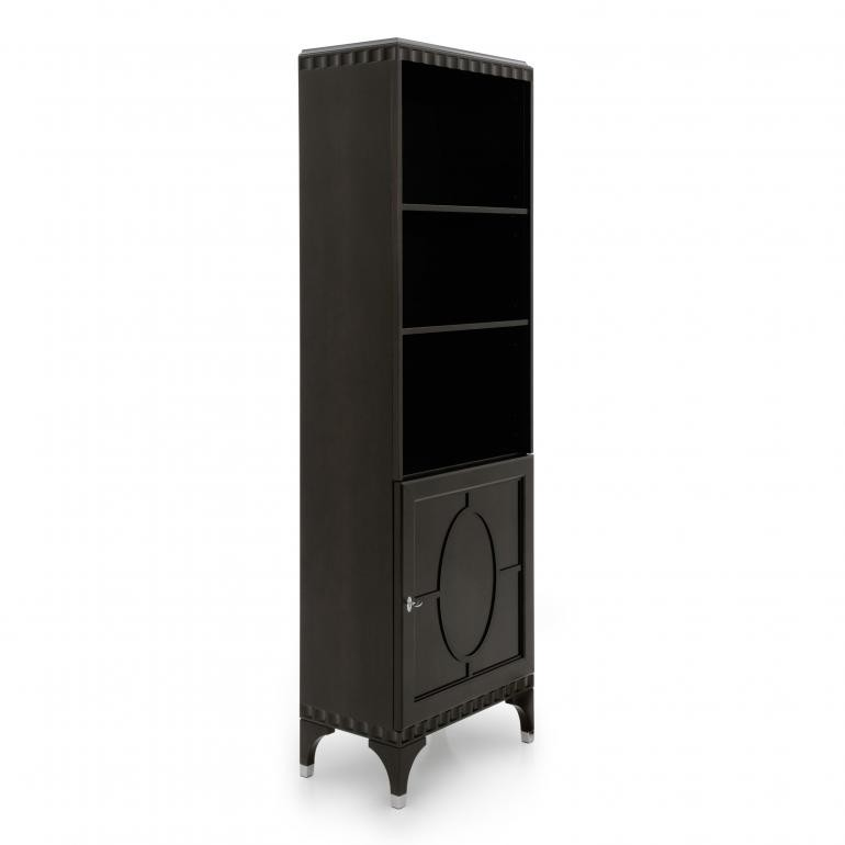 551 modern style wood bookcase ellipse d