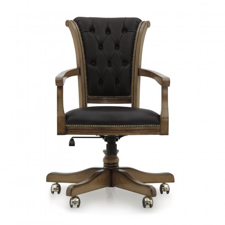 classic style wooden office armchair