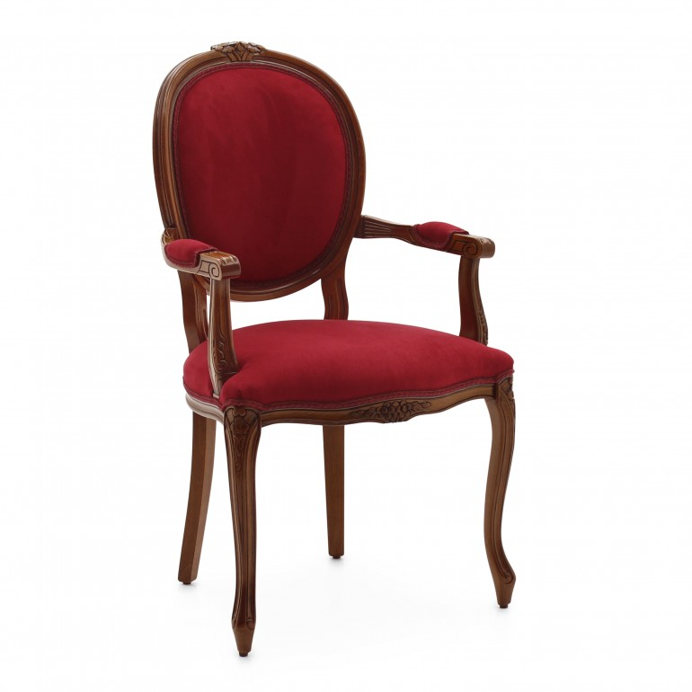 5916 classic style wood armchair rousseau