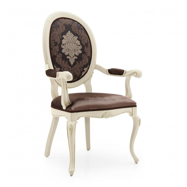 6 classic style wood armchair armonia