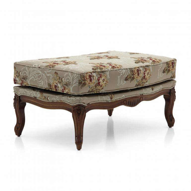 6 classic style wood ottoman acca