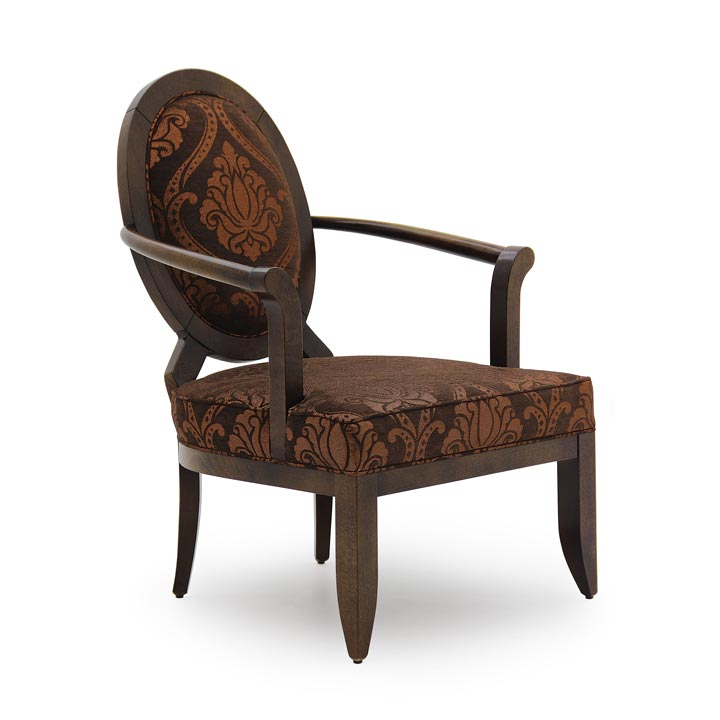 wooden art deco armchair