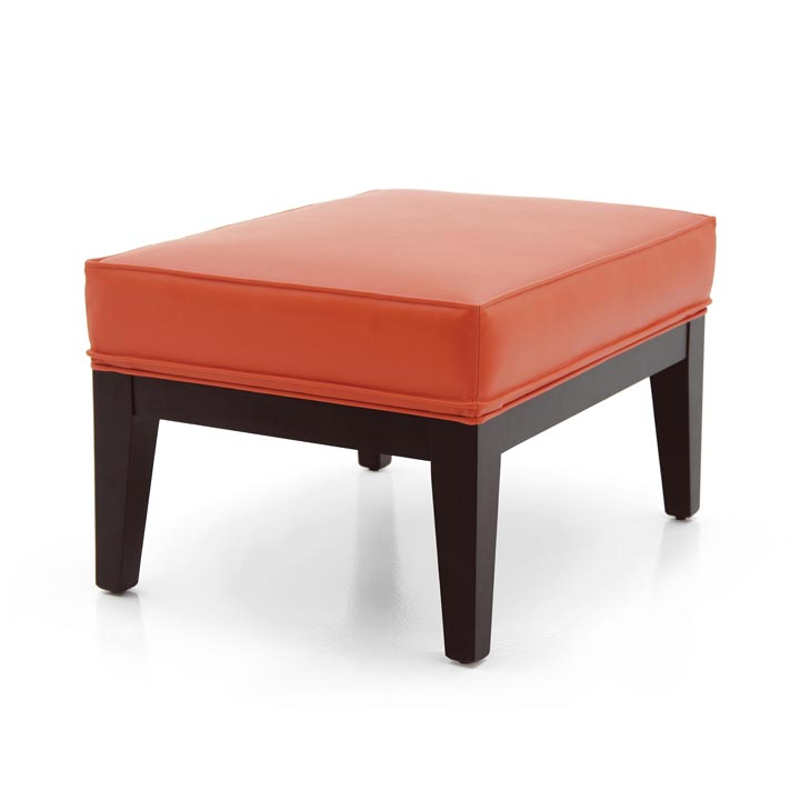 contemporary style wooden ottoman