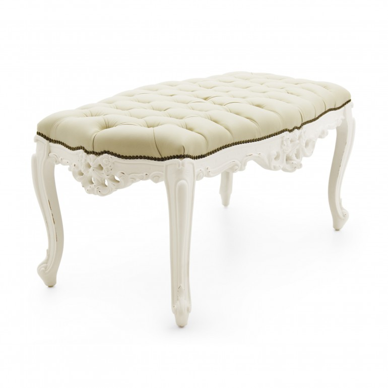baroque style wooden bench