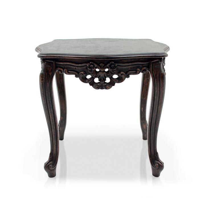 baroque style square wooden lamp table