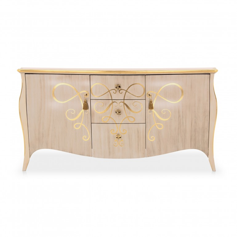 6491 classic style wood sideboard butterfly b3