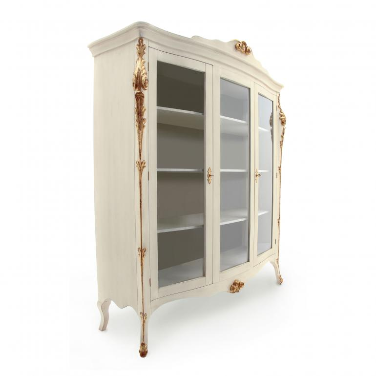 653 classic style wood glass cupboard aura2