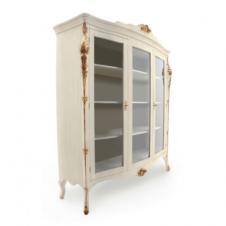 653 classic style wood glass cupboard aura2