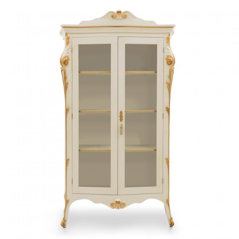 6610 classic style wood glass cupboard aura b2