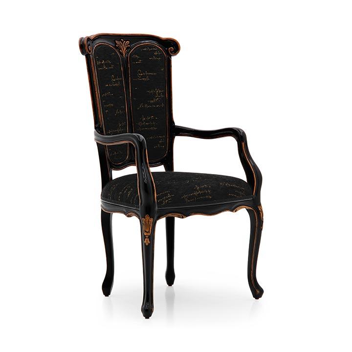 67 classic style wood armchair petrarca