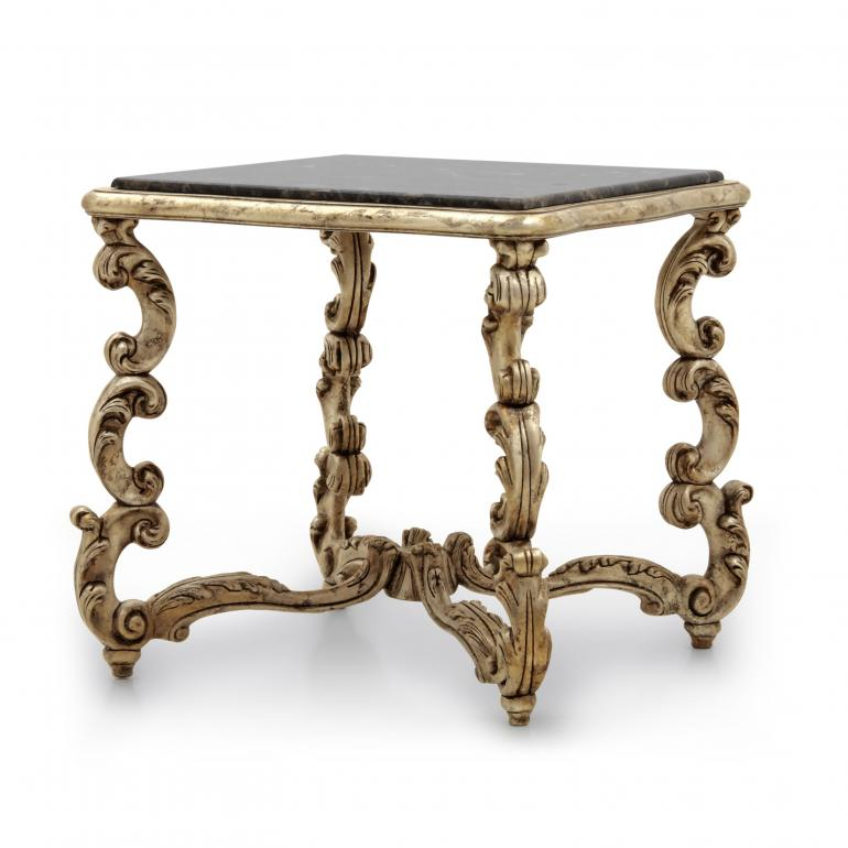 baroque style wooden square lamp table