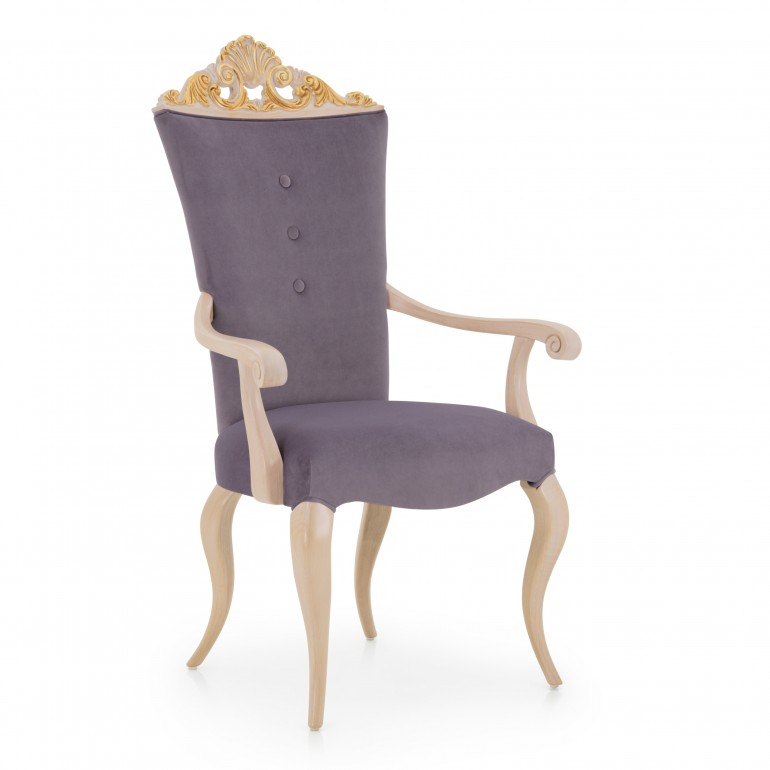 6809 baroque style wood armchair antesia6