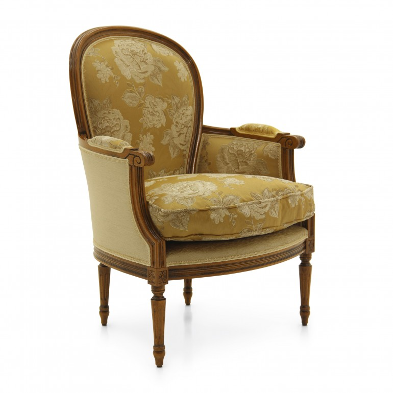 6927 classic style wood armchair iside