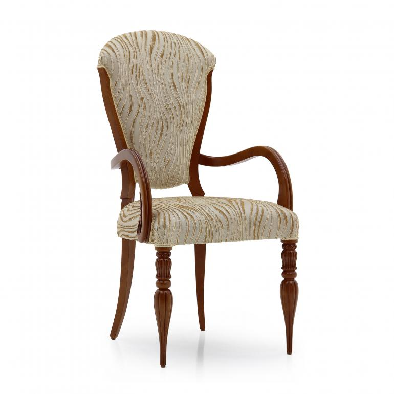 6930 classic style wood armchair cremona