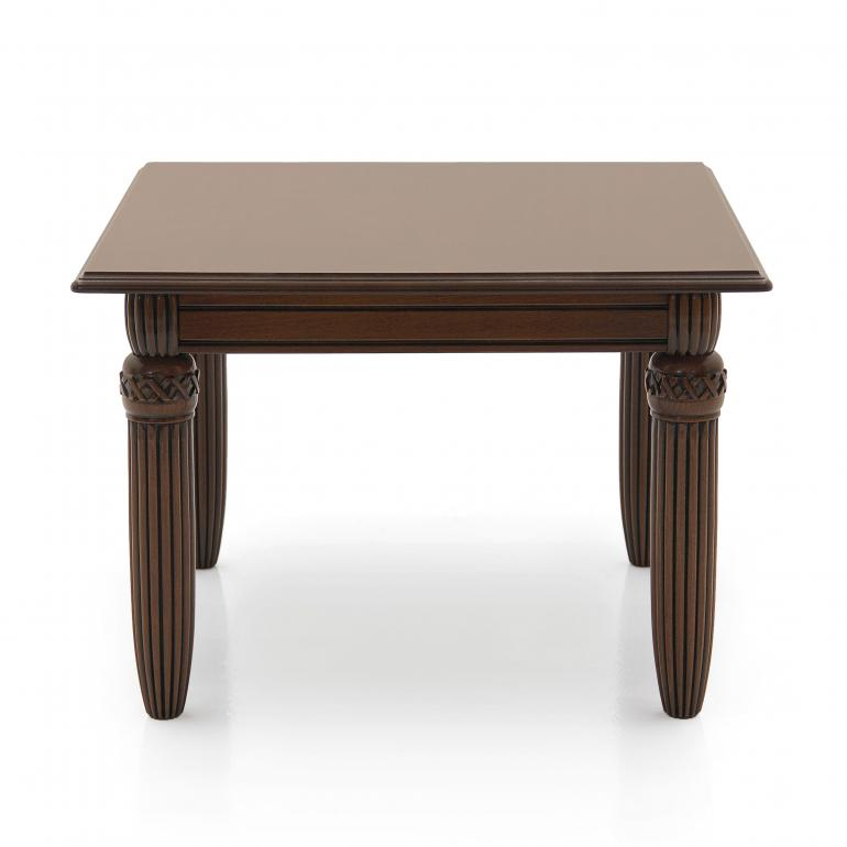 70 empire style square wood table augusto