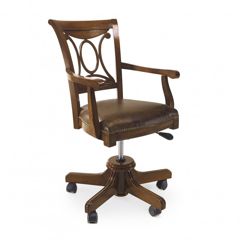 7085 classic style wood armchair atena