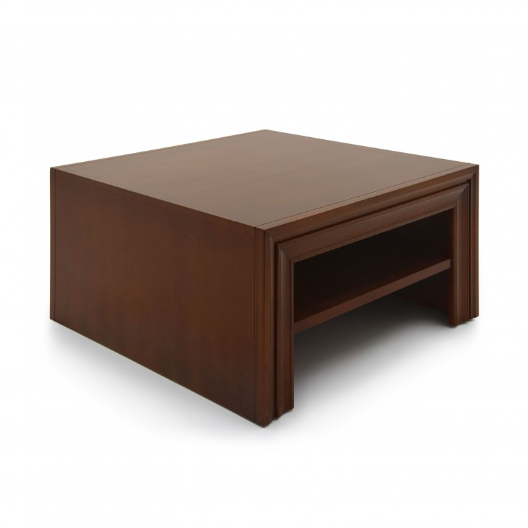 modern style low square wooden table