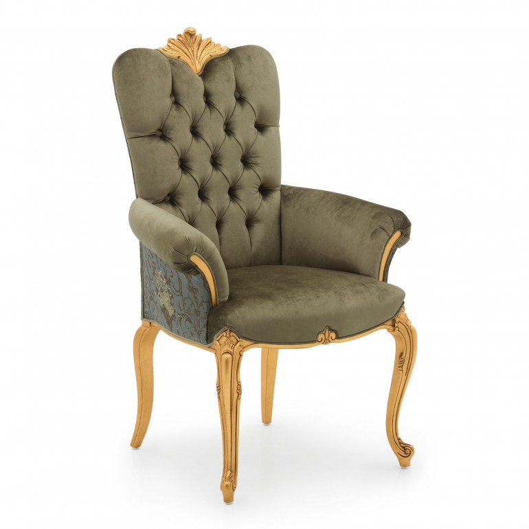 7200 baroque style wood armchair bronte