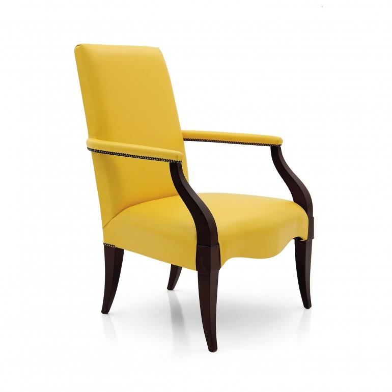 art deco style wooden armchair