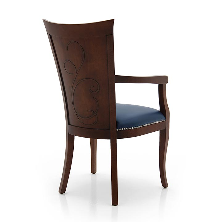 736 modern style wood armchair feel4