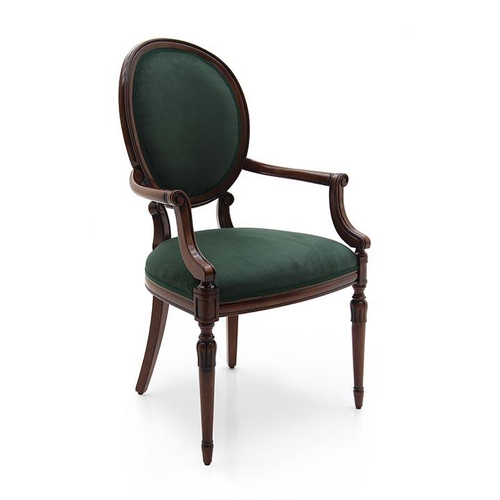 745 classic style wood armchair olga3