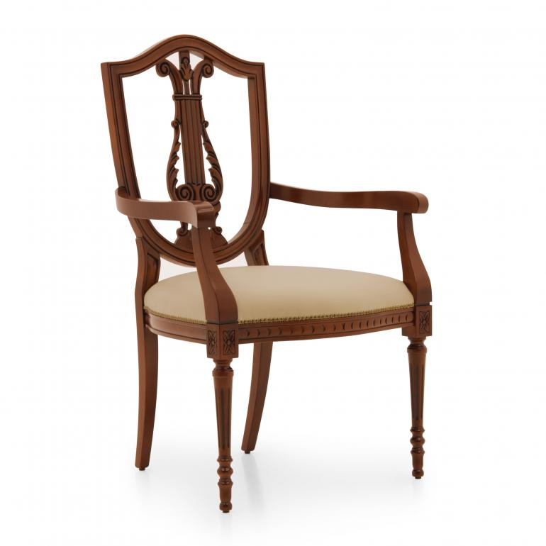 7468 classic style wood armchair violino d