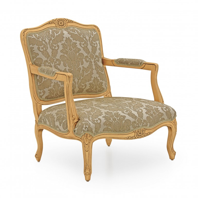 749 classic style wood armchair jacques