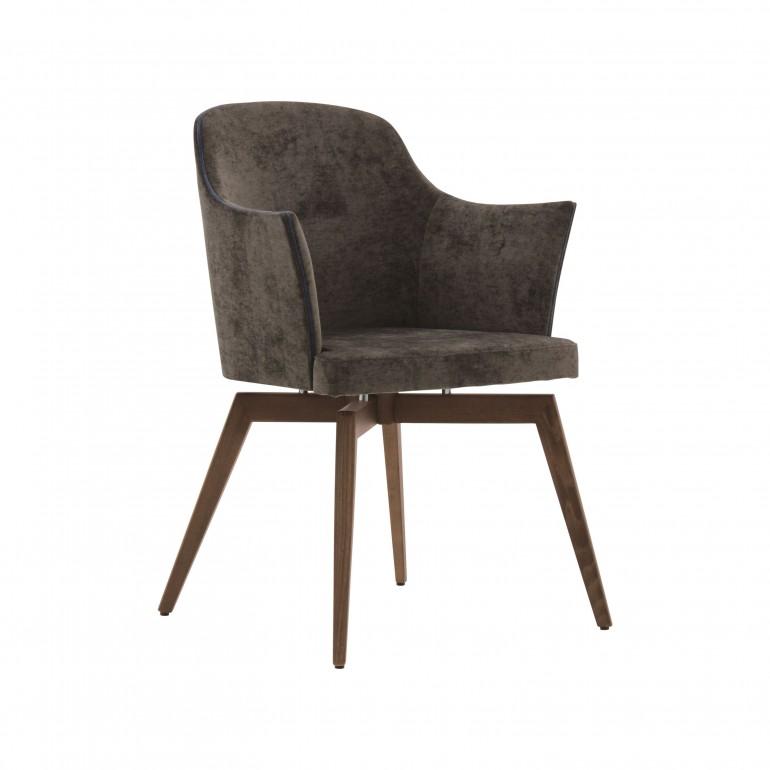 7535 modern style wood armchair marta