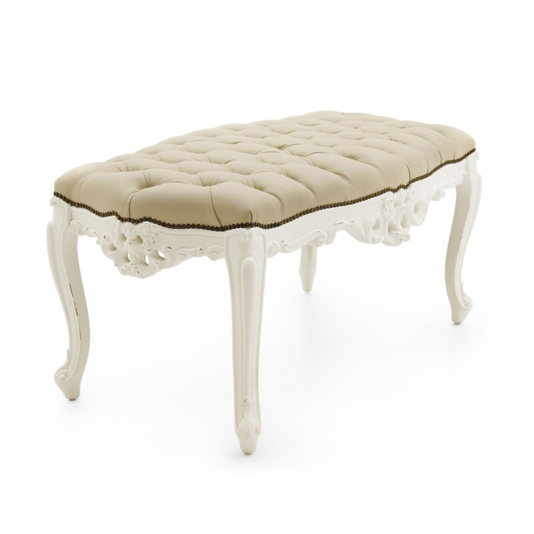 7624 baroque style wood bench naide
