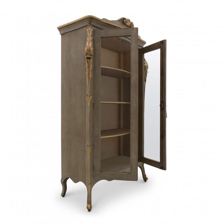 7666 classic style wood glass cupboard aura b9