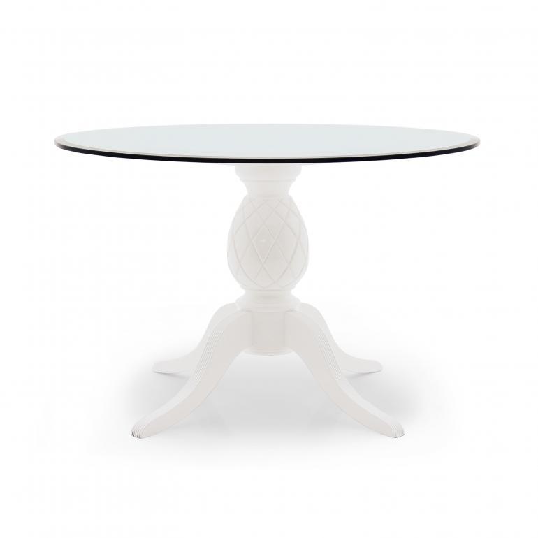 78 tavolo rotondo legno wood round table ananas 8105