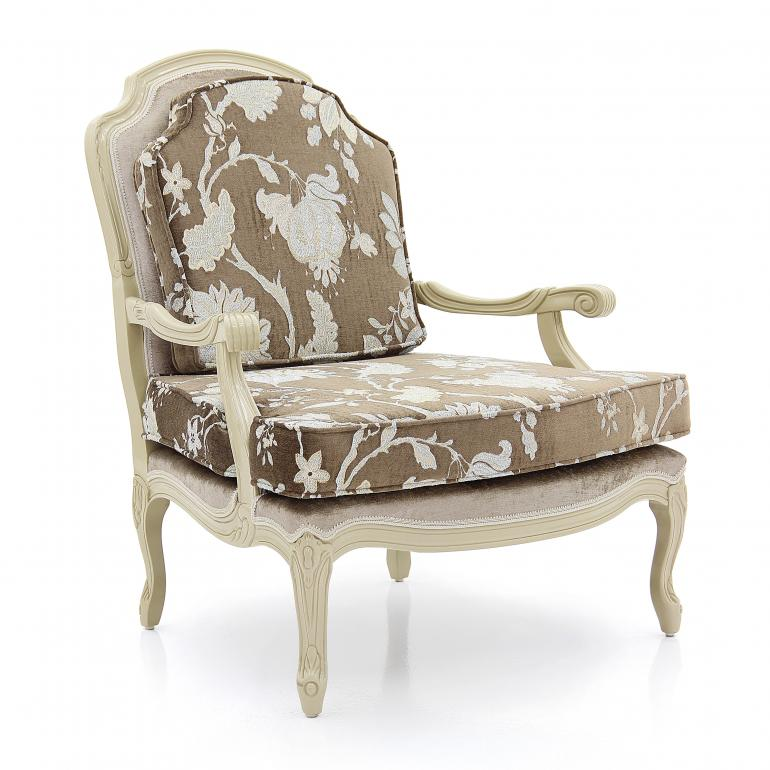 7845 classic style wood armchair grace