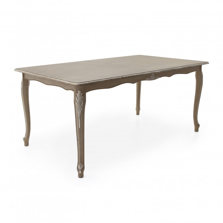 rectangular lacquered wooden table
