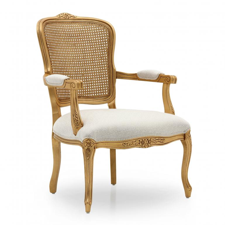 8002 classic style wood armchair luisa