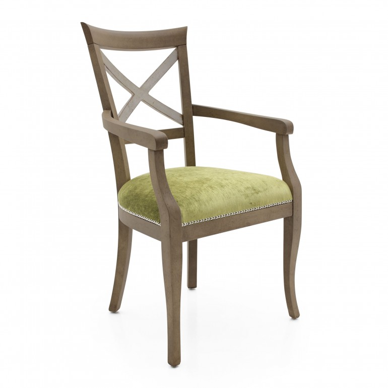 8017 classic style wood armchair croce