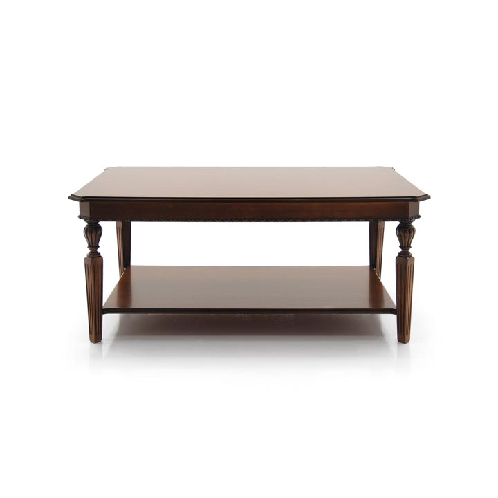 classic style wooden low rectangular table