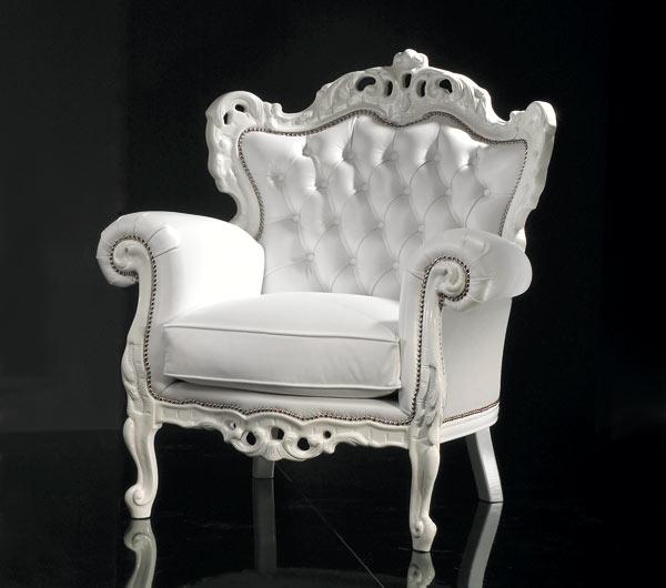 poltrone in stile barocco moderne : Poltrona Barocca Palermo - Seven Sedie