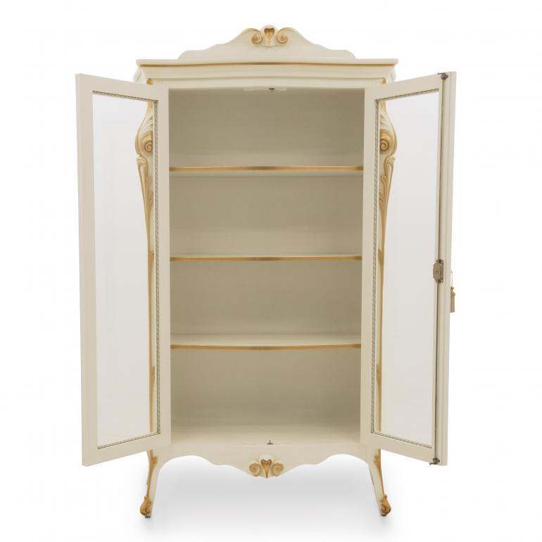 8456 classic style wood glass cupboard aura b3