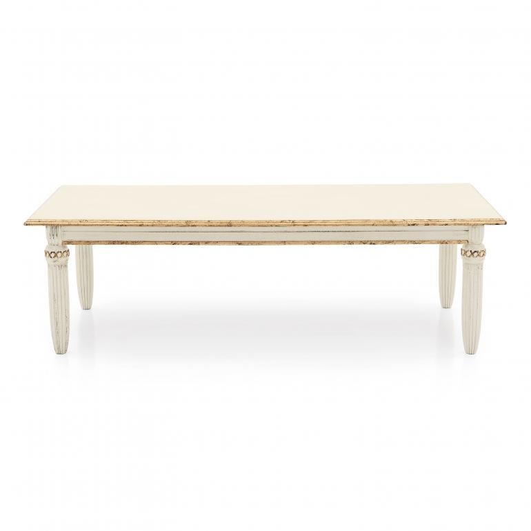 classic style low rectangular wooden table