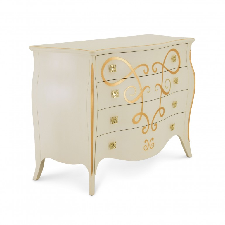 8574 classic style wood chest butterfly3