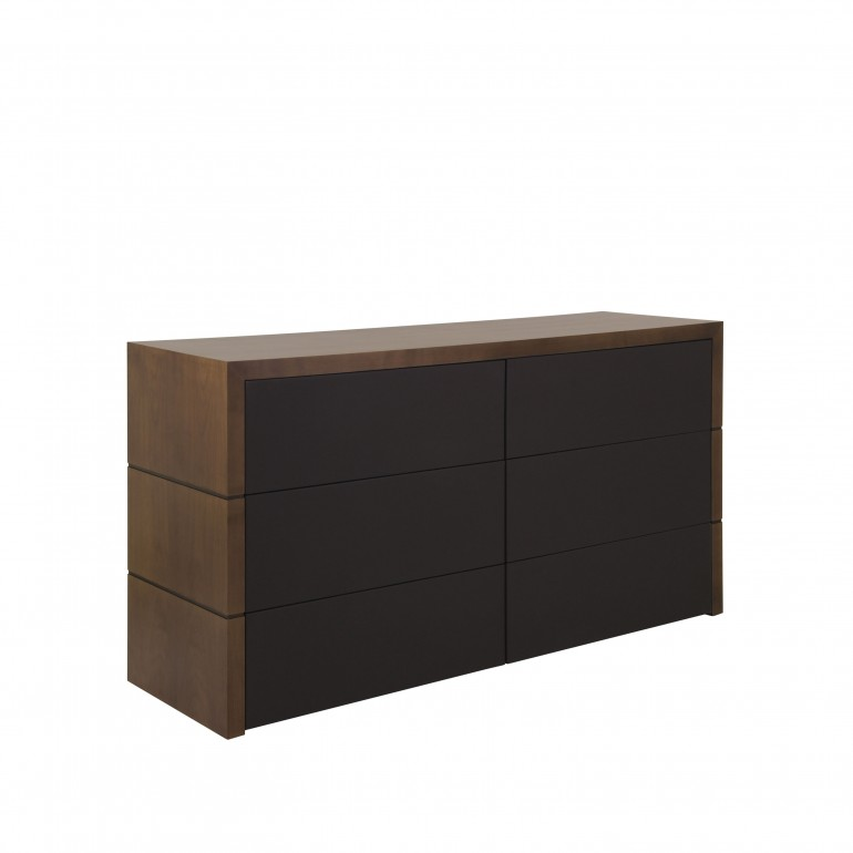 contemporary style wooden chest of drawers