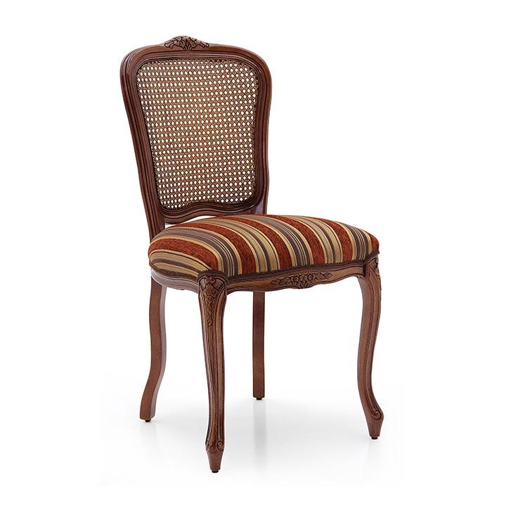 Sedia in legno stile classico fiorino sevensedie for Rivestimento sedie