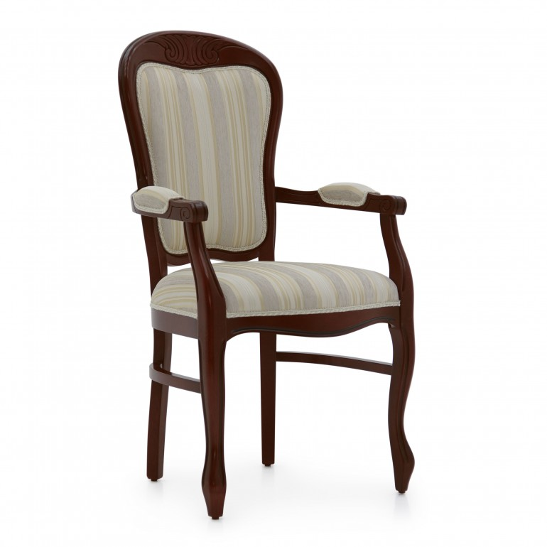 louis philippe style wooden small armchair