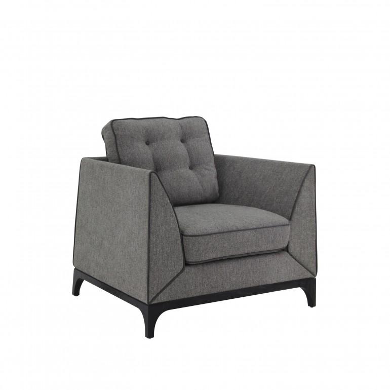 8740 modern style wood armchair mystirio