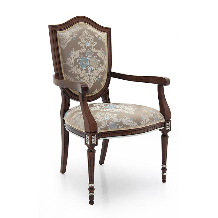 878 classic style wood armchair violino b3